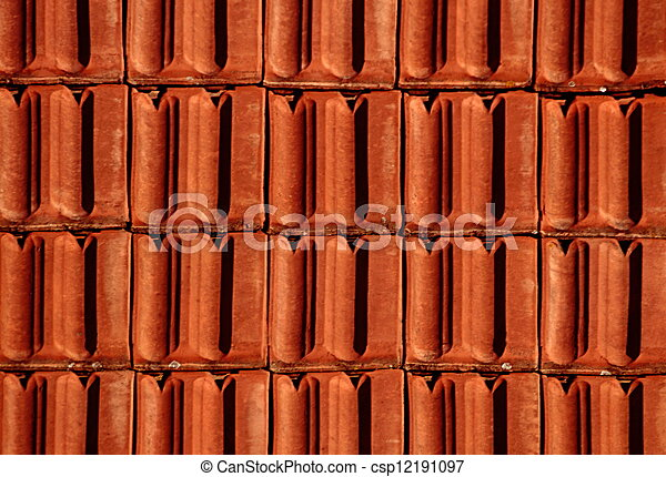 Brick Roof Texture brick red roof. texture or background of terracotta tiled roofing.