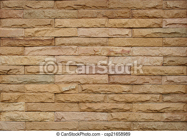 brick stone wall for background - csp21658989
