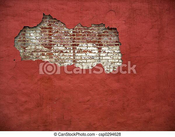 Brick Wall 3 Color Stock Photo