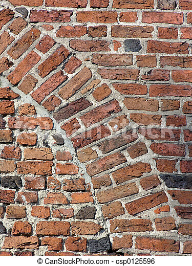 Brick wall - arch - csp0125596