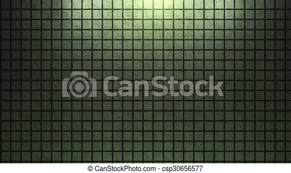 Brick wall background green - csp30656577