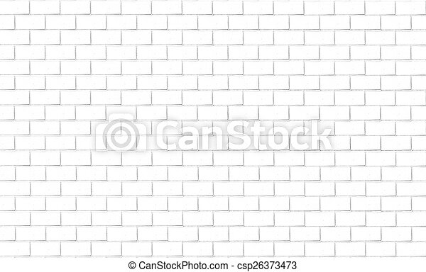 Brick wall background in white tone - csp26373473