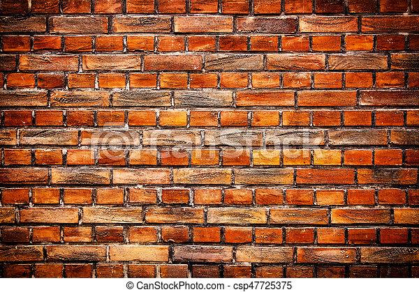 Brick wall background - csp47725375