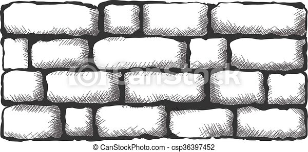 Black Brick Wall Clipart Vector