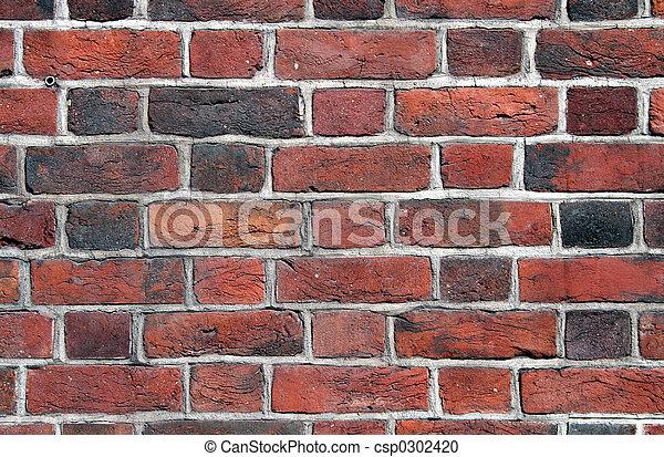 Brick wall close up - csp0302420
