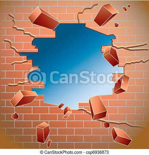 brick wall - csp6936873