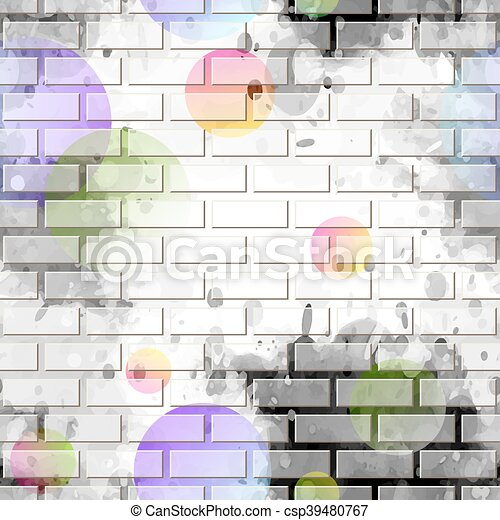 Brick Wall Graffiti Seamless Background