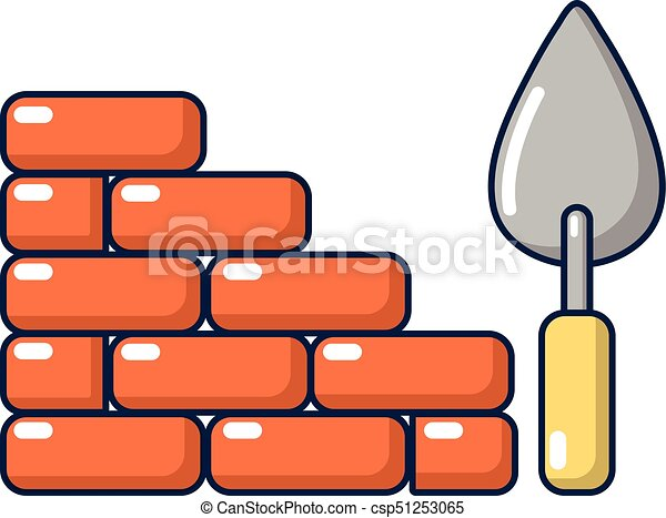 brick wall icon cartoon style brick wall icon cartoon rh canstockphoto com brick wall clipart image picture free brick wall clipart png