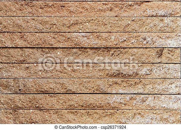 Brick wall in orange brown tone - csp26371924