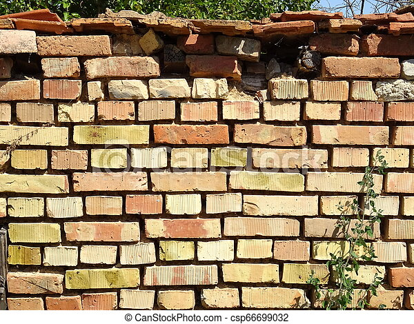 Brick Wall of an Old House - csp66699032