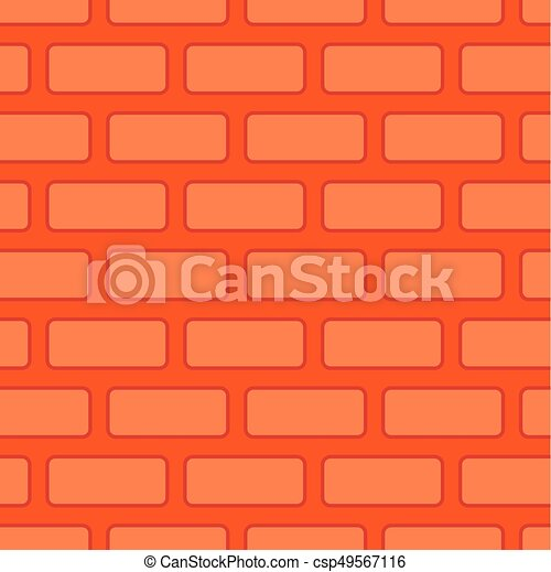 Brick Wall Seamless Texture Red Bricks Background Vector