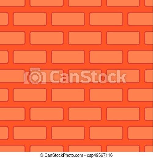 Brick Wall Seamless Texture Red Bricks Background Vector