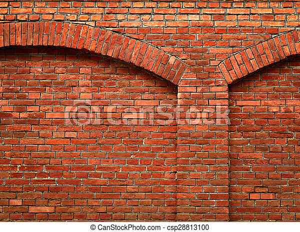 brick wall with arch - csp28813100