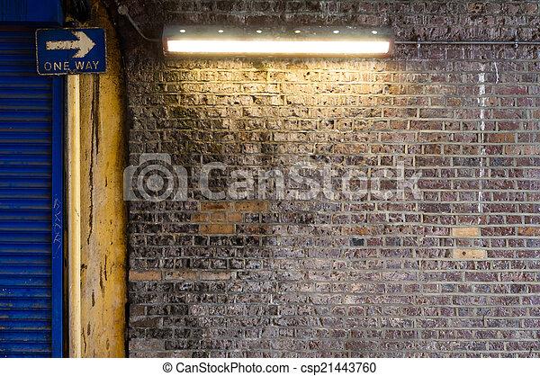 Brick Wall with Strip Light (1) - csp21443760