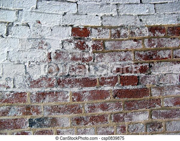 Brick White Wall 2 - csp0839875