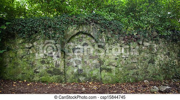 bricked up doorway - csp15844745