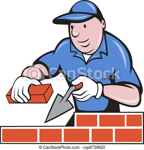 illustration of a bricklayer mason at work done in cartoon stock rh canstockphoto com masonic clipart images masonic clipart symbols to download