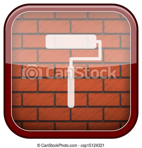 Bricks wall icon - csp15124321