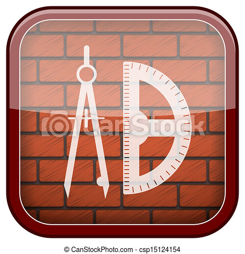 Bricks wall icon - csp15124154
