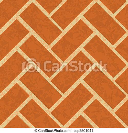 brickwork floor, wall seamless background - csp8801041
