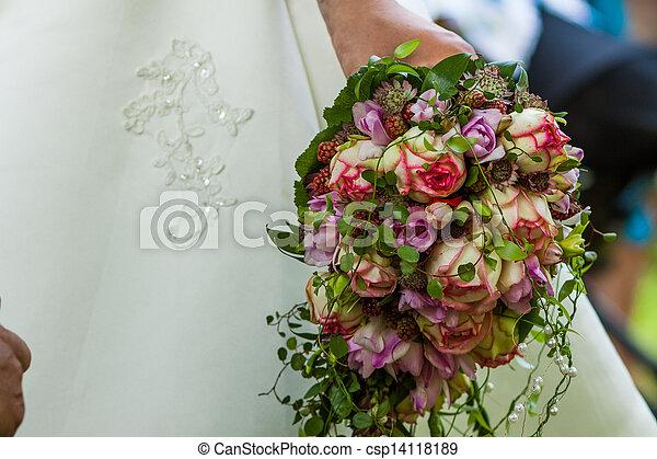 bridal bouquet - csp14118189