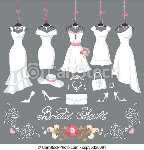 Bridal dresses hang on ribbons accessories wedding dresses bridal dresses hang on ribbons accessories csp35326091 junglespirit Image collections