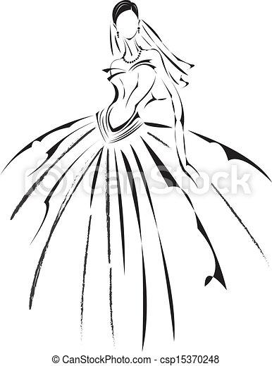 Bridal fashion. - csp15370248