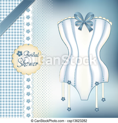 Bridal shower greeting card vector search clip art illustration bridal shower greeting card csp13623282 m4hsunfo