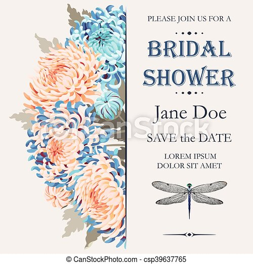 bridal shower invitation csp39637765