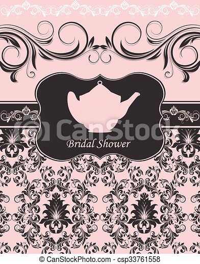 Bridal shower invitation clipart vector search illustration bridal shower invitation vector stopboris Images