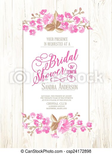 Bridal shower invitation bridal shower invitation with ivory bridal shower invitation csp24172898 filmwisefo