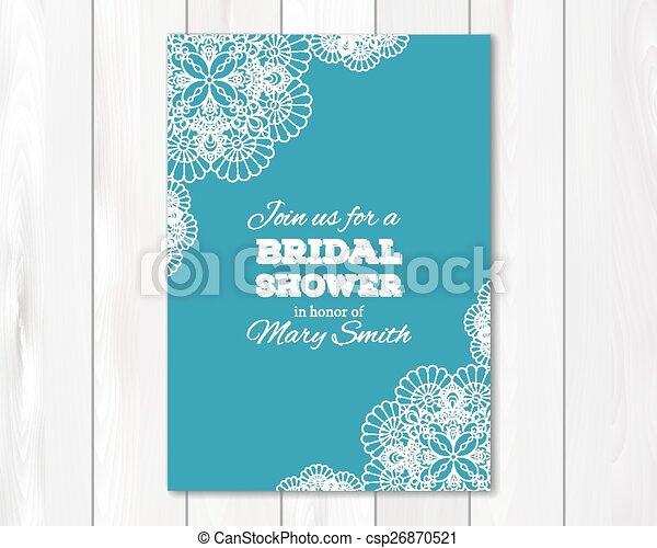 Bridal Shower Or Wedding Invitation Card Template