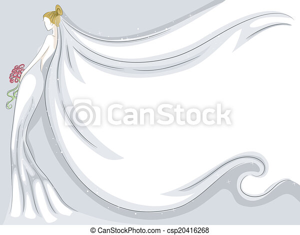 Bridal Veil Background - csp20416268