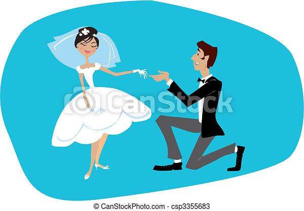 Bride and bridegroom - csp3355683