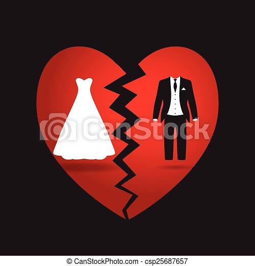 bride and groom break up - csp25687657