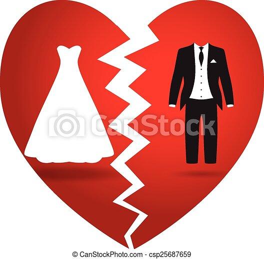 bride and groom break up - csp25687659