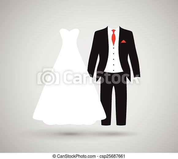 bride and groom  - csp25687661