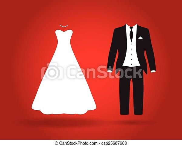 bride and groom  - csp25687663