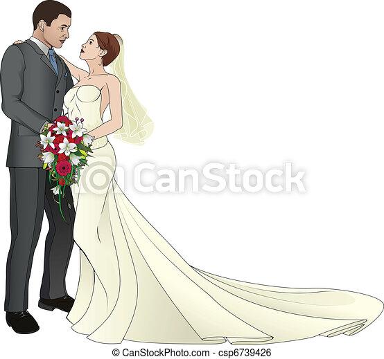 Bride and Groom - csp6739426