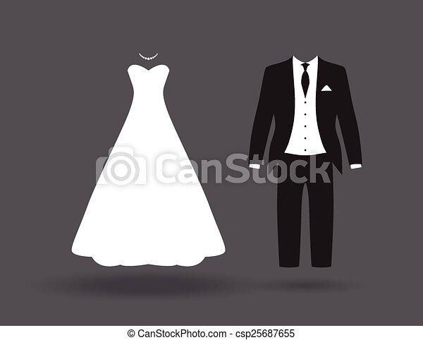 bride and groom  - csp25687655