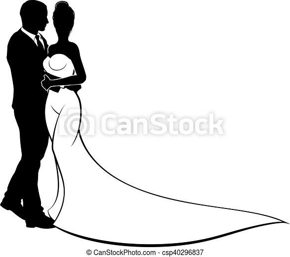 Bride and groom couple wedding silhouette bride and groom wedding bride and groom couple wedding silhouette csp40296837 junglespirit Gallery