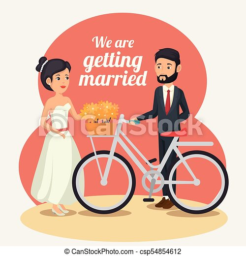 Bride and groom design - csp54854612