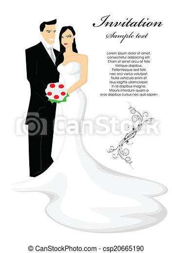 Bride and groom - csp20665190