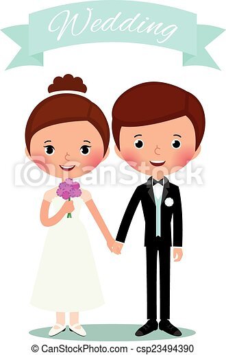 Bride and groom - csp23494390