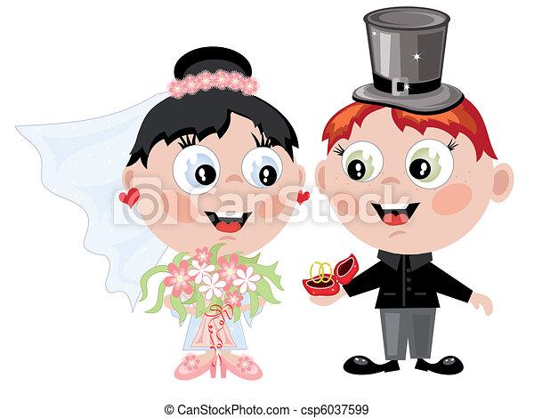 Bride and groom - csp6037599