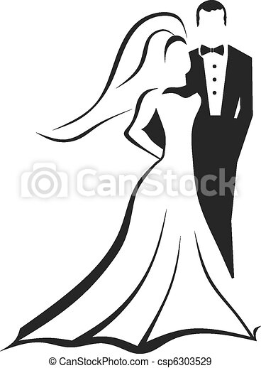Bride and Groom - csp6303529