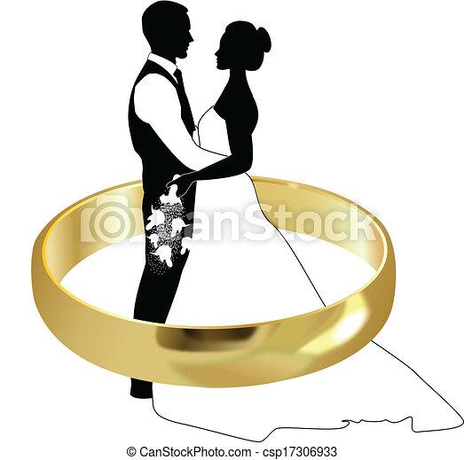 BRIDE AND GROOM - csp17306933