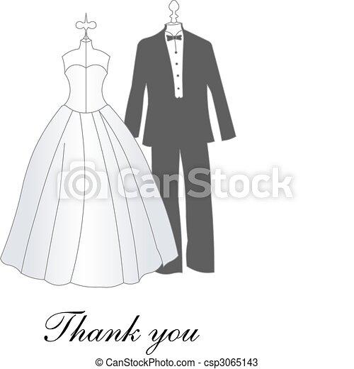 bride and groom - csp3065143