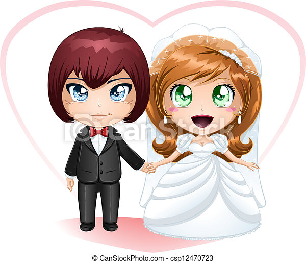 Bride And Groom Getting Married 2 - csp12470723