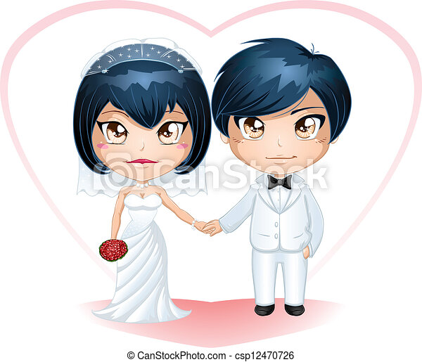 Bride And Groom Getting Married 3 - csp12470726
